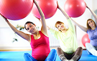 Pregant women exercising