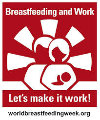 "World Breastfeeding Week Logo ""Breastfeeding and Work"""