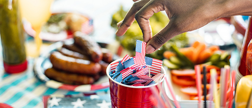 July 4th themed picnic table