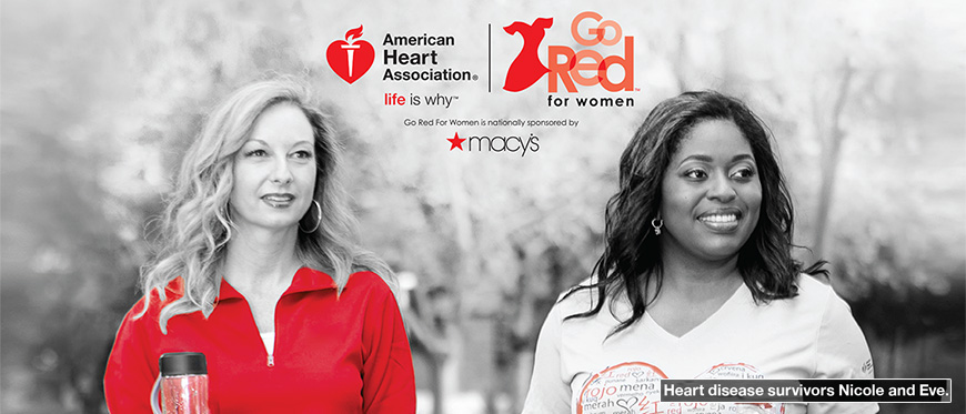 Heart disease survivors Nicole and Eve