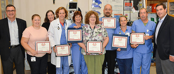 CVMC Energency Room Staff Receive Heartsaver Award