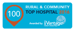ivantage's Top 100 Rural & Community Hospitals logo