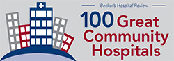 Becker's 100 Great Community Hospitals logo