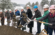 Ceremonial Groundbreaking for New Green Mountain Family Practice Building