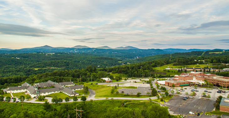 Aerial view of Central Vermont Medical Center Campaus