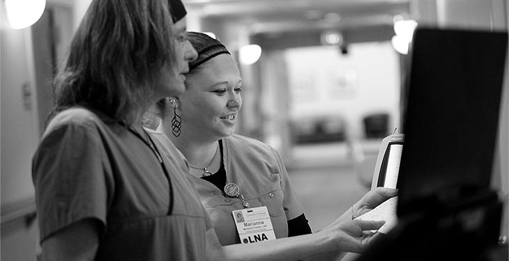 Nurses working together