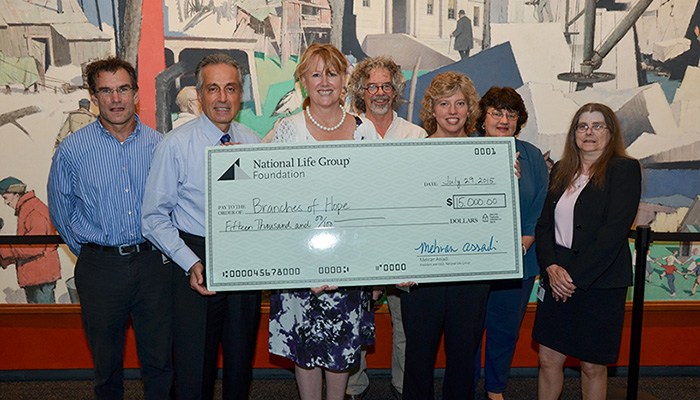 5,000 check presented to CVMC from National Life Group's Do Good Fest