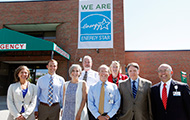 CVMC's Energy Savings Initiative Team in front of Energy Star banner