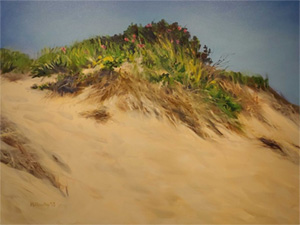 Painting of sand dune by Molly Hawley