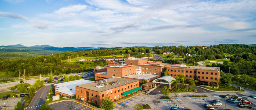 Aerial view of Central Vermont Medical Center