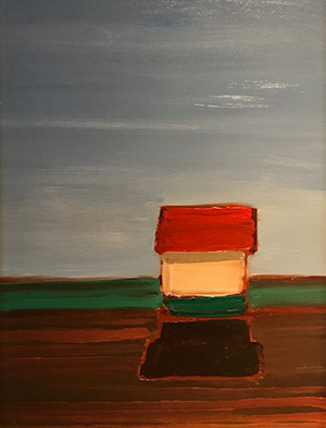 The Last Barn, painting by Ray Brown
