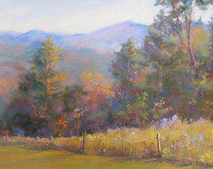 Pastel Painting by Wendy Soliday of Spruce Mountain in Vermont