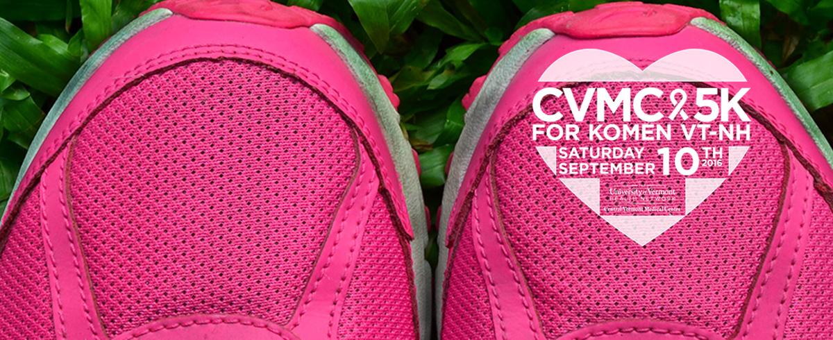 Pink Running shoes with CVMC 5k Logo