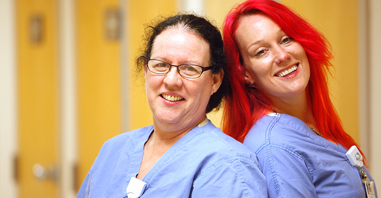 CVMC Environmental Technicians Claire Pignone and Liz McDougal