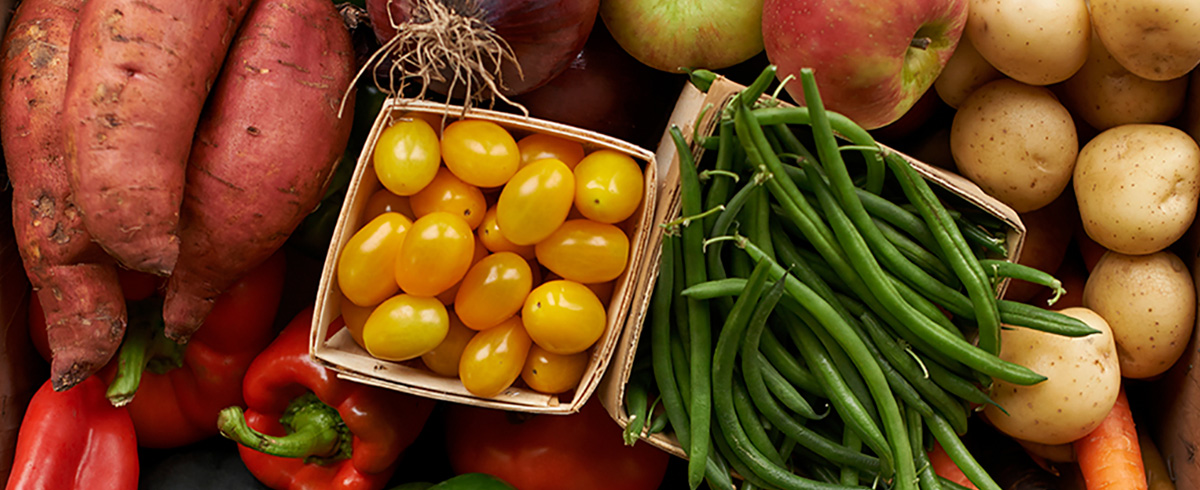 A variety of colorful vegetables