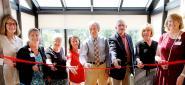 CVMC staff cutting ribbon at Palliative Care dedication ceremony