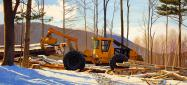 Kathleen Kolb painting of grapple skidder