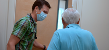 Green Mountain Family Practice Medical Director Matthew Sullivan, MD and Northfield resident Richard Jarvis