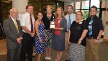 CVMC Employees with Michael Fuelner Award