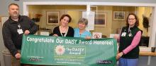 CVMC's Jane Hartzell, RN accepts Daisy Award