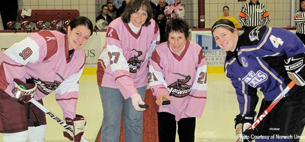"Gail Mariano at Norwich University's ""Fill the Rink with Pink"" Fundraiser"